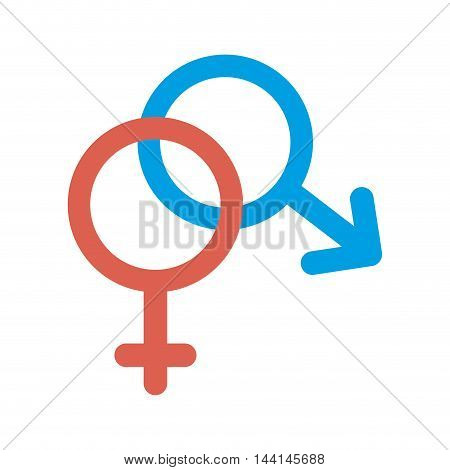 gender male female signs symbol connection couple vector illustration