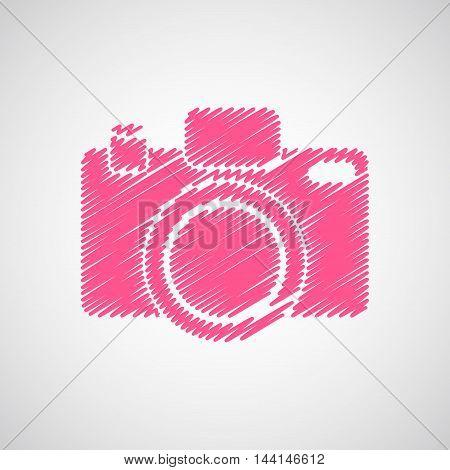 Camera-sketch-pink