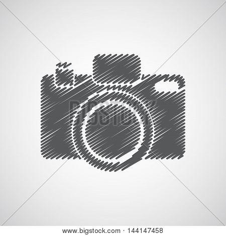 Camera-sketch-grey