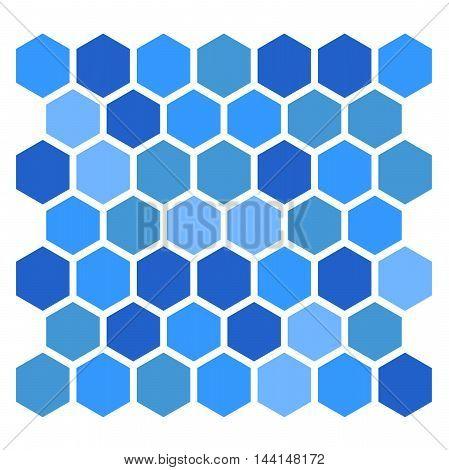 blue hexagon pattern on white background, illustration