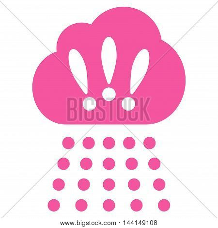 Storm Cloud icon. Vector style is flat iconic symbol, pink color, white background.
