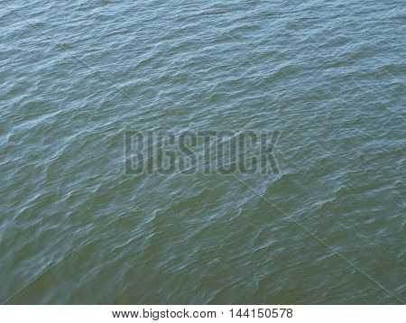 Water aspect in a calm river or riverside