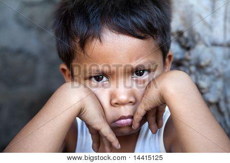 Young Filipino Boy - Poverty