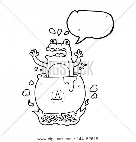 freehand drawn speech bubble cartoon funny halloween toad