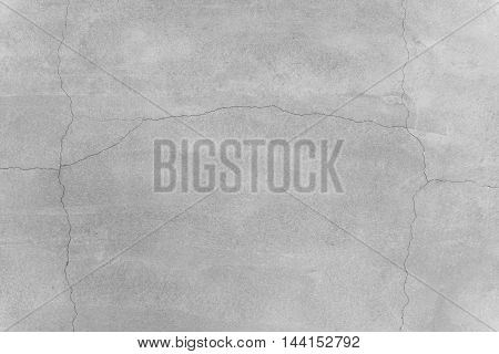 concrete wall texture background with crack on surface