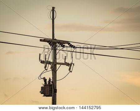 Electric pole : Electrical power poles in The electricity needed to power an electric pole. We use a lot of electricity and power it up. Whether electric poles transformers and electrical cables all.