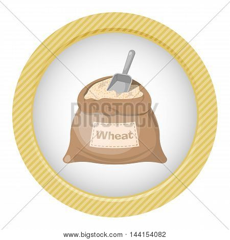 Wheat bag icon. Vector illustration in cartoon style