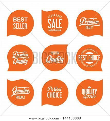 Modern Sale Badges Collection Vector 5.eps