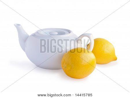 White Teakettle And Lemons