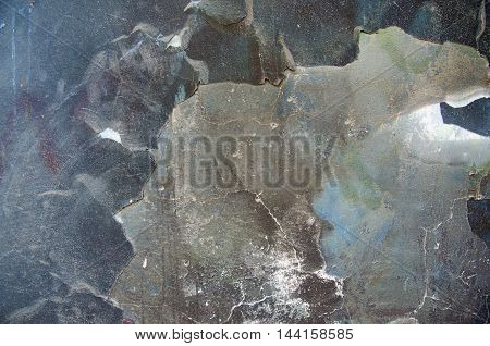 Old weathered painted wall background. Paint spilled abstract visuals.