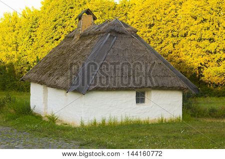 Old Traditional Rural House on Natual Background
