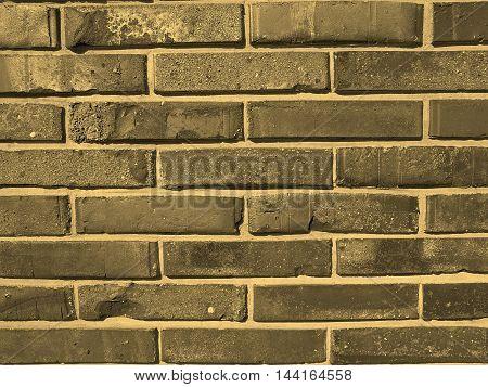 Brick Wall Sepia