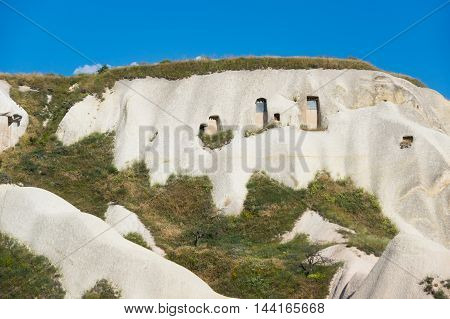 Rocks of Pigeon valley in Cappadocia Central AnatoliaTurkey