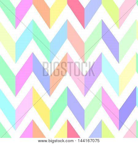 seamless chevron pattern pastel vector print vintage.