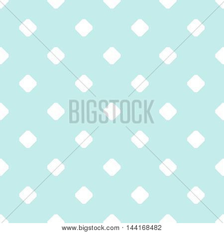 Tile mint green and white vector pattern