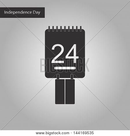 black and white style icon calendar Ukraine's Independence Day