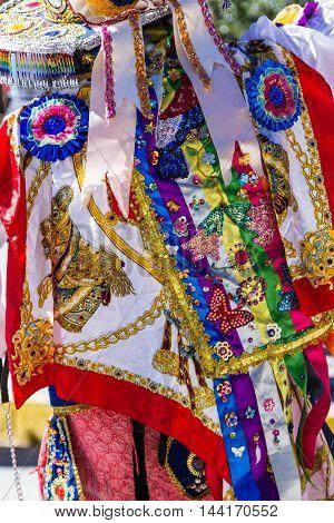 Colorful Dress In Peru