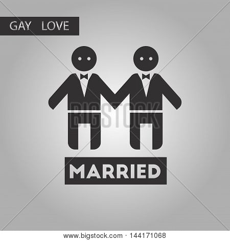 black and white style icon gays newlyweds wedding