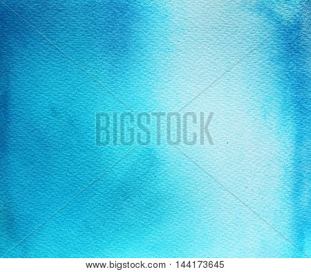 Abstract blue watercolor background. Hand drawn colorful illustration. Ink illustration. Hand drawn watercolor painting.