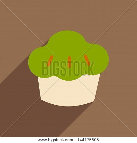 Flat with shadow icon and mobile application cake