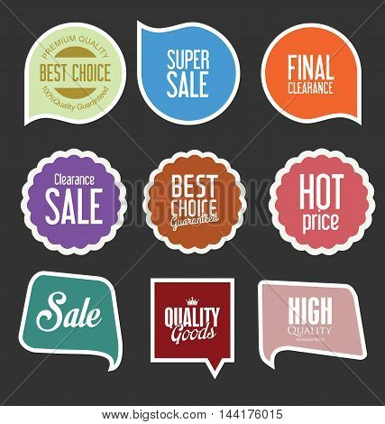 Modern Sale Stickers And Tags Collection Vector 4.eps