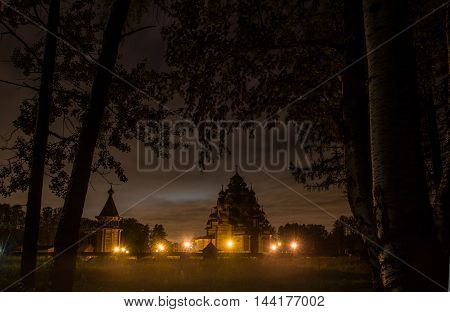 Church of the intercession, the Nevsky forest Park ,Russia