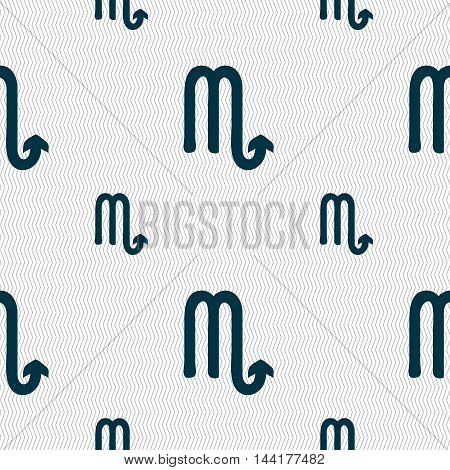 Scorpio Sign. Seamless Pattern With Geometric Texture. Vector