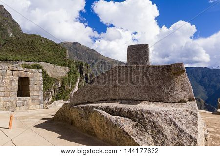 Sun Dial In Machu Pichu