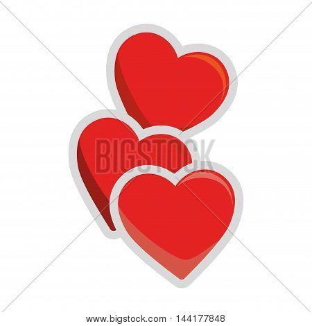 heart love romantic passion symbol icon design vector illustration