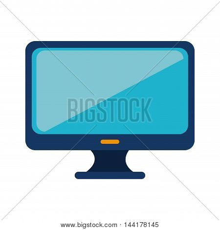 monitor pc computer screen device technology vector illustration
