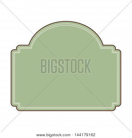 blank retro vintage badges and labels frame decoration vector illustration