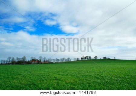 Autumn Farmland Landscape