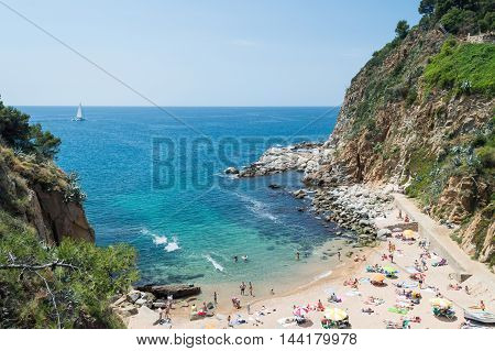 Beach In Tossa De Mar, Costa Brava, Spain.