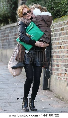 LONDON, UK, JAN 30, 2013: Geri Halliwell seen out and about in North London picture taken in the street