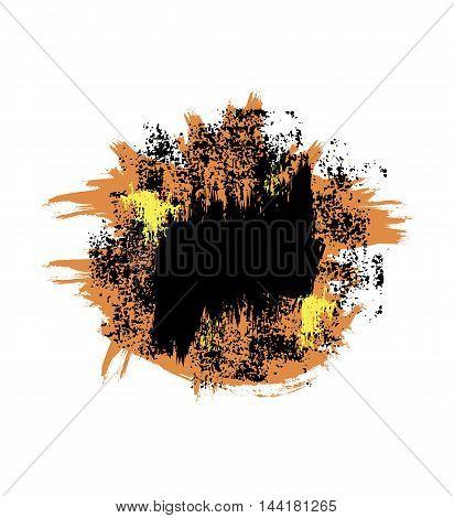 Orange black vector blot. Vector design element