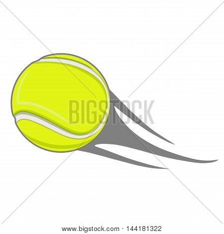 yellow tennis ball flying tennis court sports game