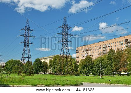 Part of the city which forms the transmission line of electricity.