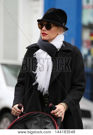 LONDON, UK, DEC 30, 2012: Gwen Stefani seen out and about in Primrose Hill picture taken from the street