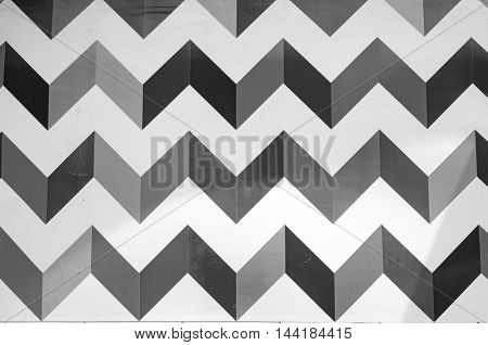 Colorful geometric background wall painting. Geometric paint effect on a wall