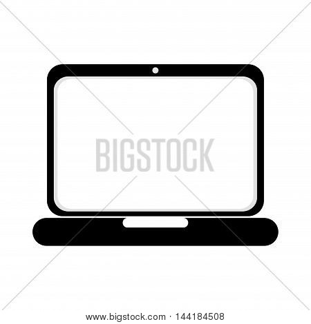 laptop screen technology computer gadget device portable vector illustration isolated