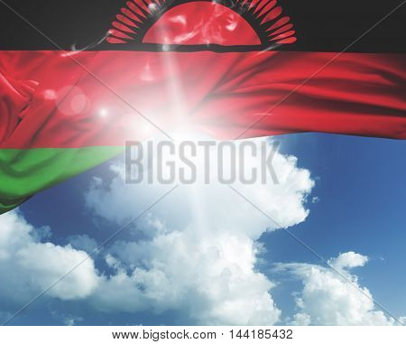Malawi flag on a beautiful day