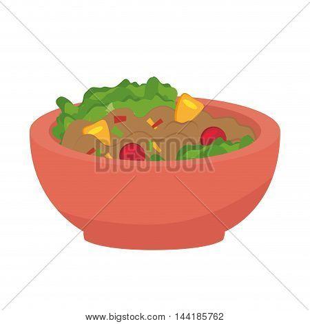 plate of vegetables bowl healthy food nutritive vector illustration
