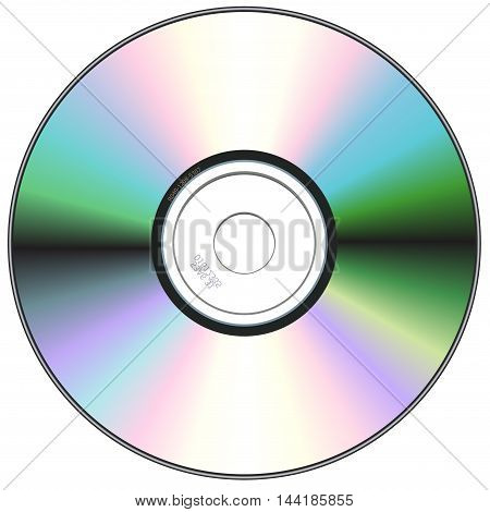 Realistic vector CD or DVD disk isolated on White