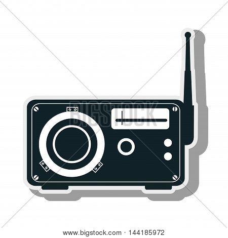 radio technology device vintage retro music vector illustration
