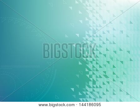 Abstract Blue Technology Background Vector Illustration. Easy editable EPS10.