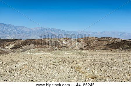 Desert Landscape In Death Valley National Park