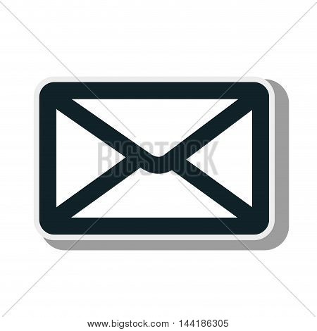 mail envelope correspondence post email symbol vector illustration