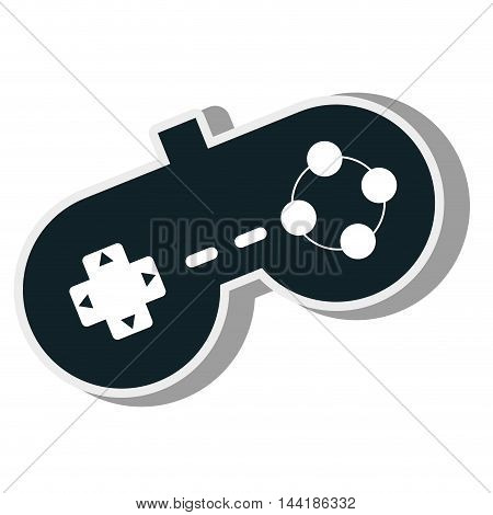 control console virtual game technology device vector illustration