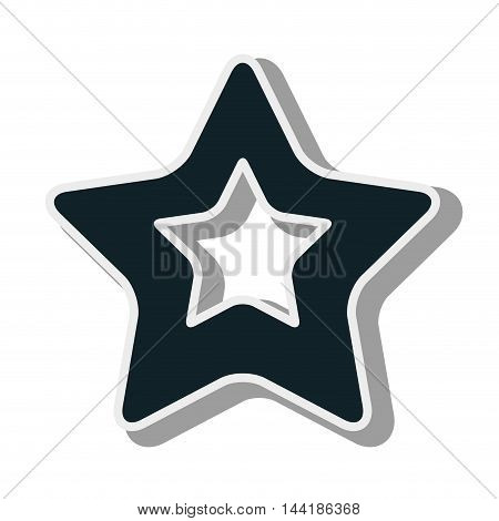 star shape sticker icon symbol element silhouette vector illustration