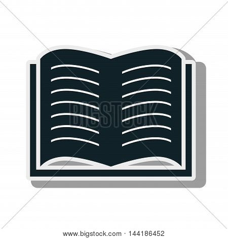 open book pages reading education and knowledge element vector illustration